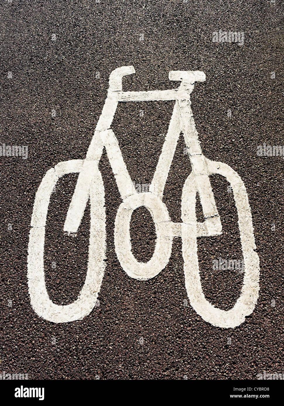 Cycle path logo, UK - Stock Image