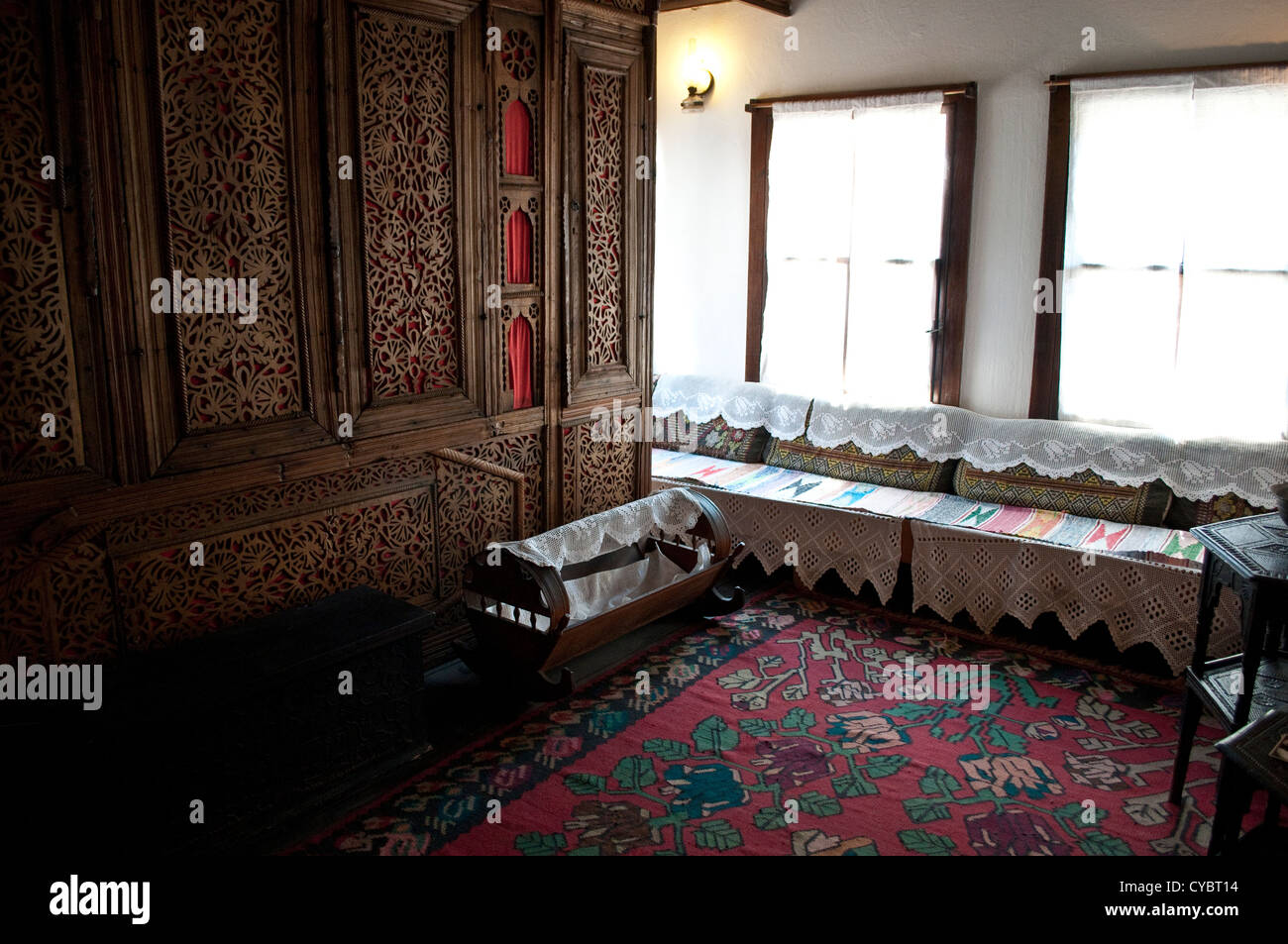 Interior of birth house of Noble laureate Ivo Andric, Travnik, Bosnia and Herzegovina - Stock Image