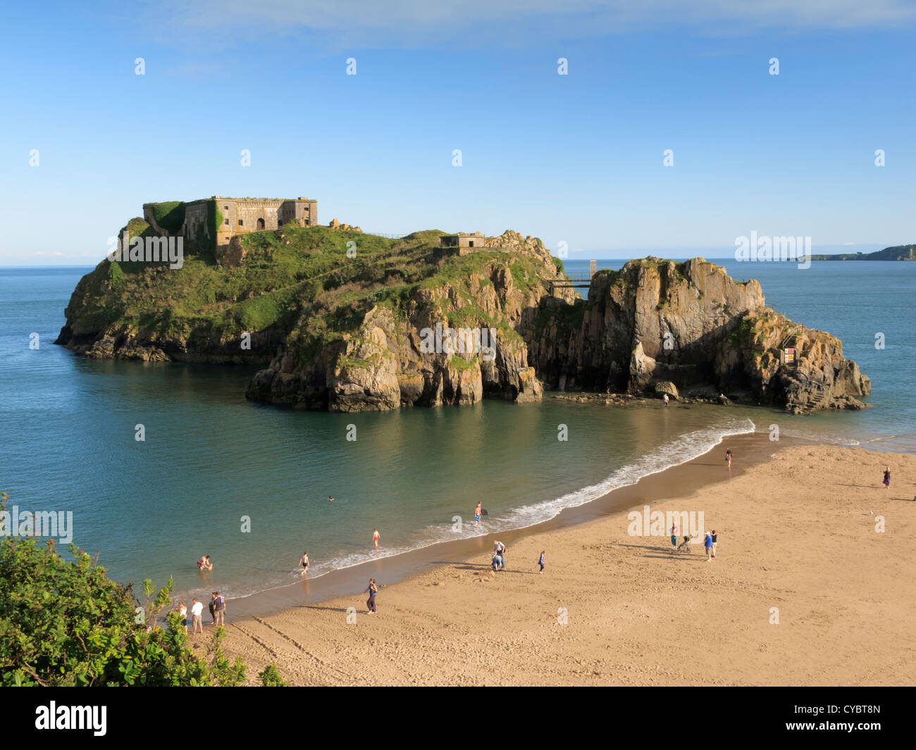 St Catherines Island Tenby Pembrokeshire Wales - Stock Image