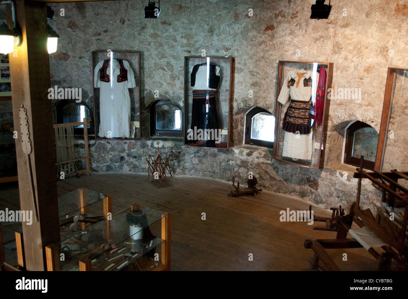 Ethnographic museum in the Medieval fortress, Old Town, Travnik, Bosnia and Herzegovina - Stock Image