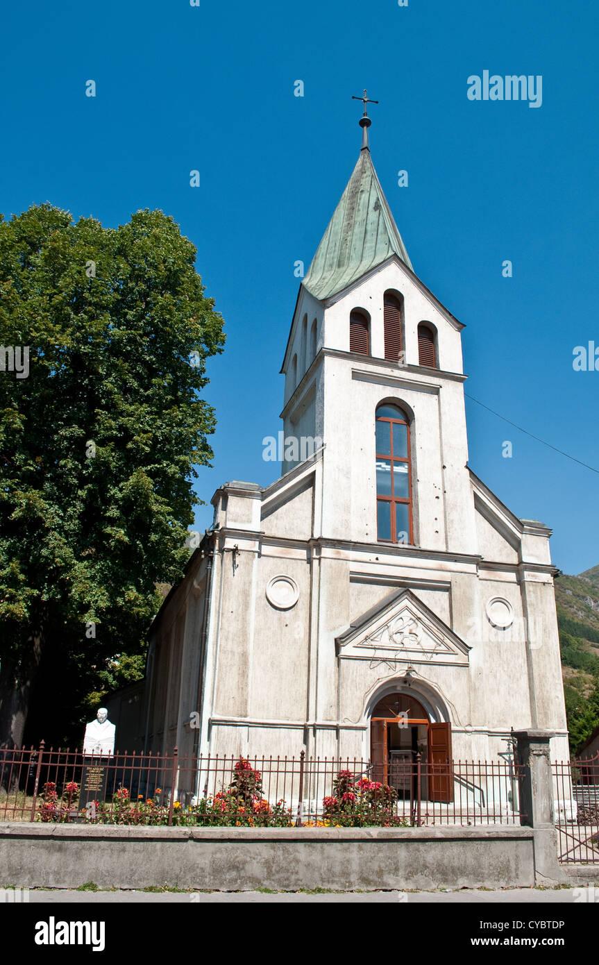 Catholic church, central Travnik, Bosnia and Herzegovina - Stock Image