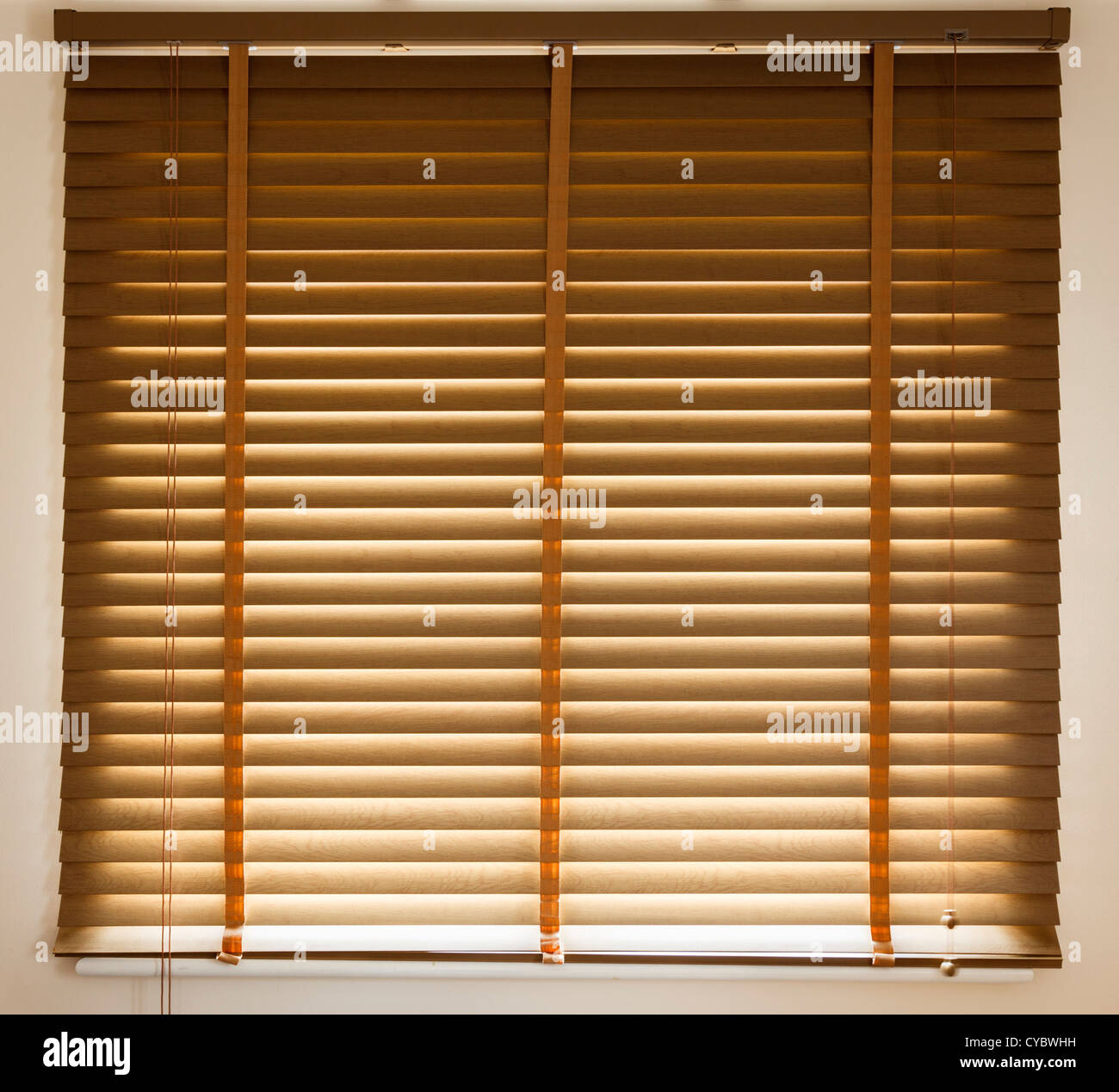 Venetian blinds closed - Stock Image