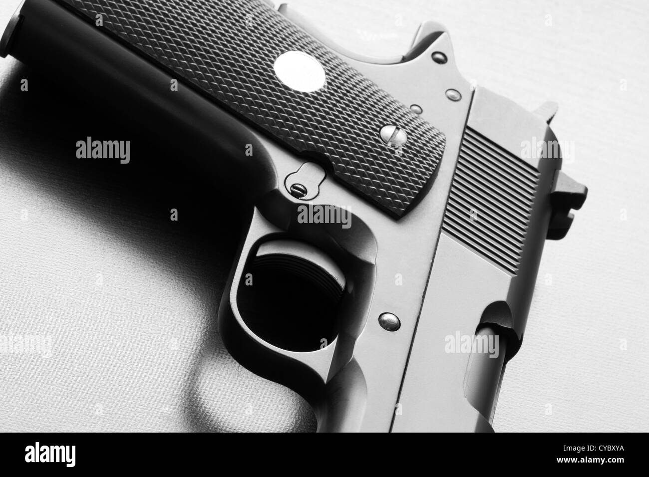 pistol black and white stock photos images alamy