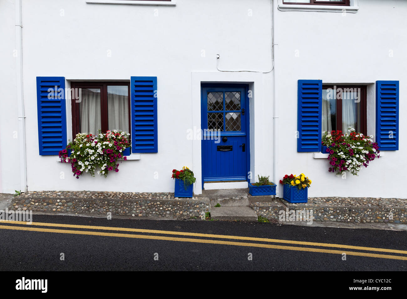 Well kept cottage in Summercove, Kinsale, county cork, ireland - Stock Image