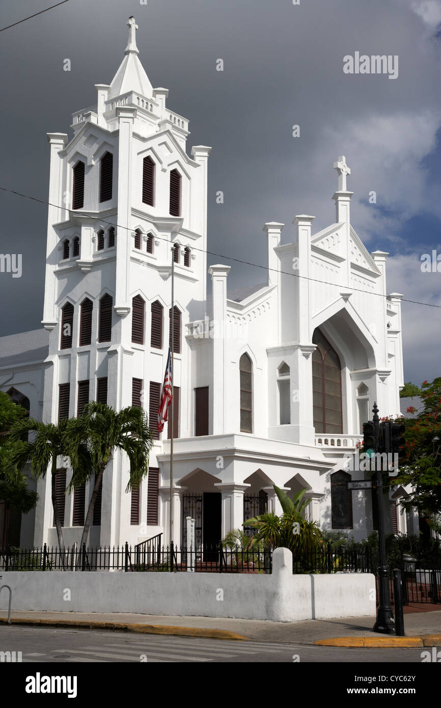 st pauls episcopal church duval street key west florida usa - Stock Image