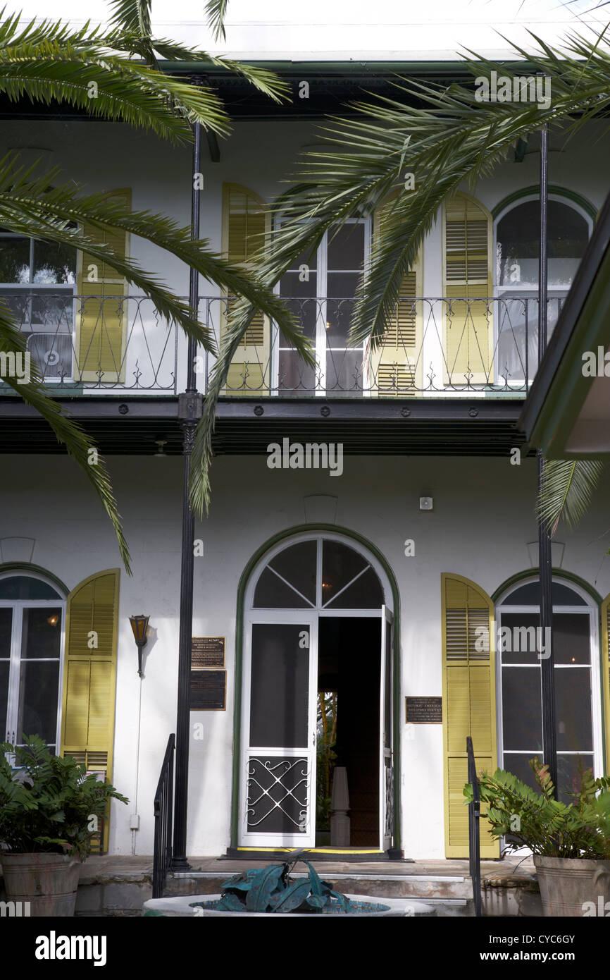 entrance to ernest hemingways house key west florida usa Stock Photo