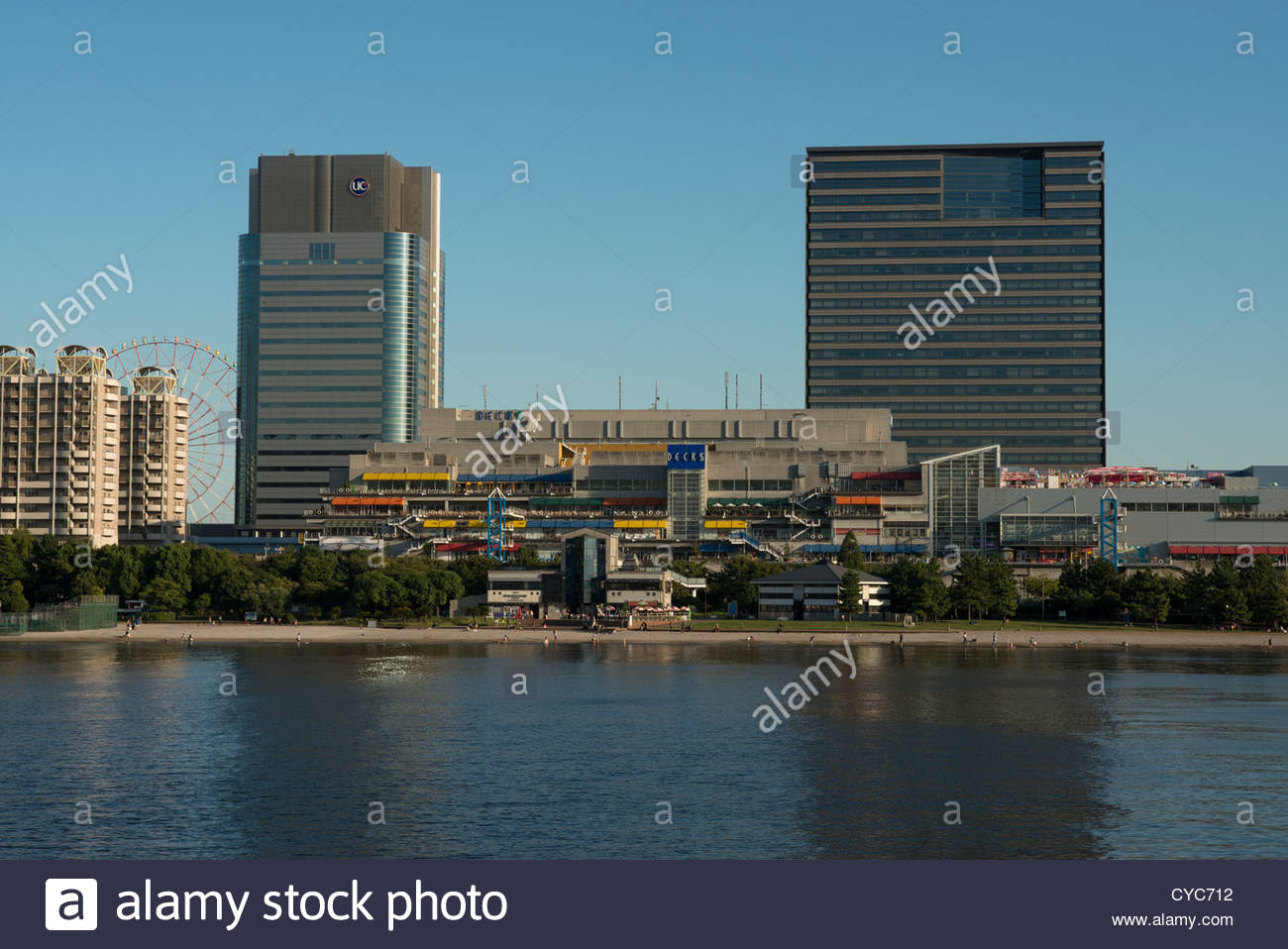 The Decks shopping and entertainment complex in Odaiba Tokyo Japan - Stock Image