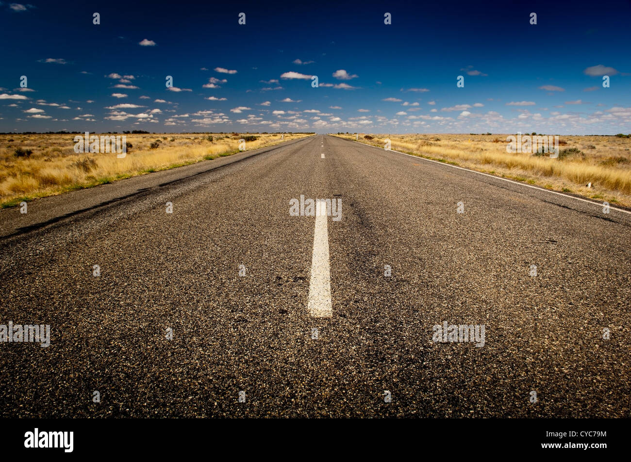 Open road ahead, endless road for concept - Stock Image