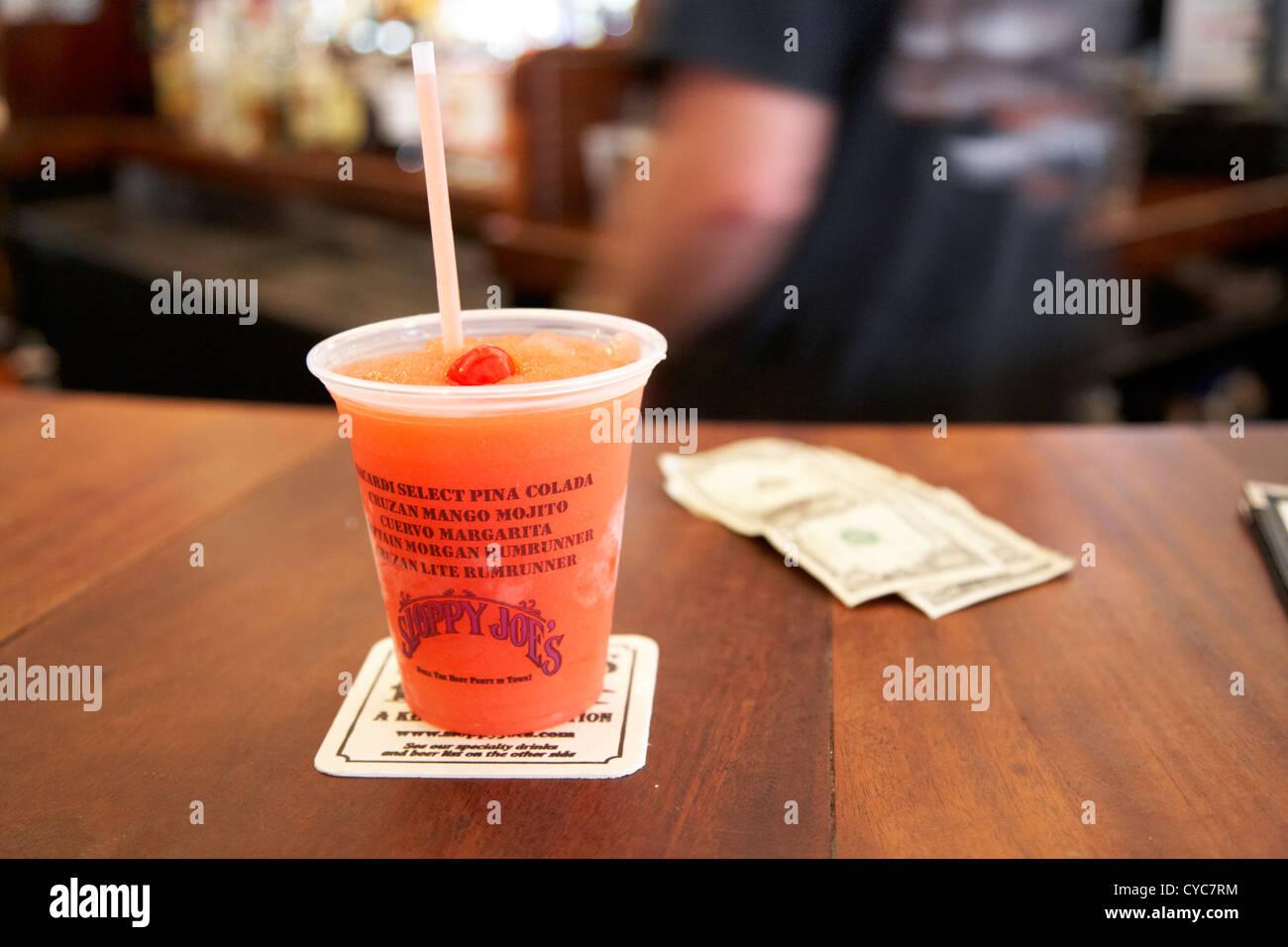 cocktail slushie drink in sloppy joes bar duval street key west florida usa - Stock Image