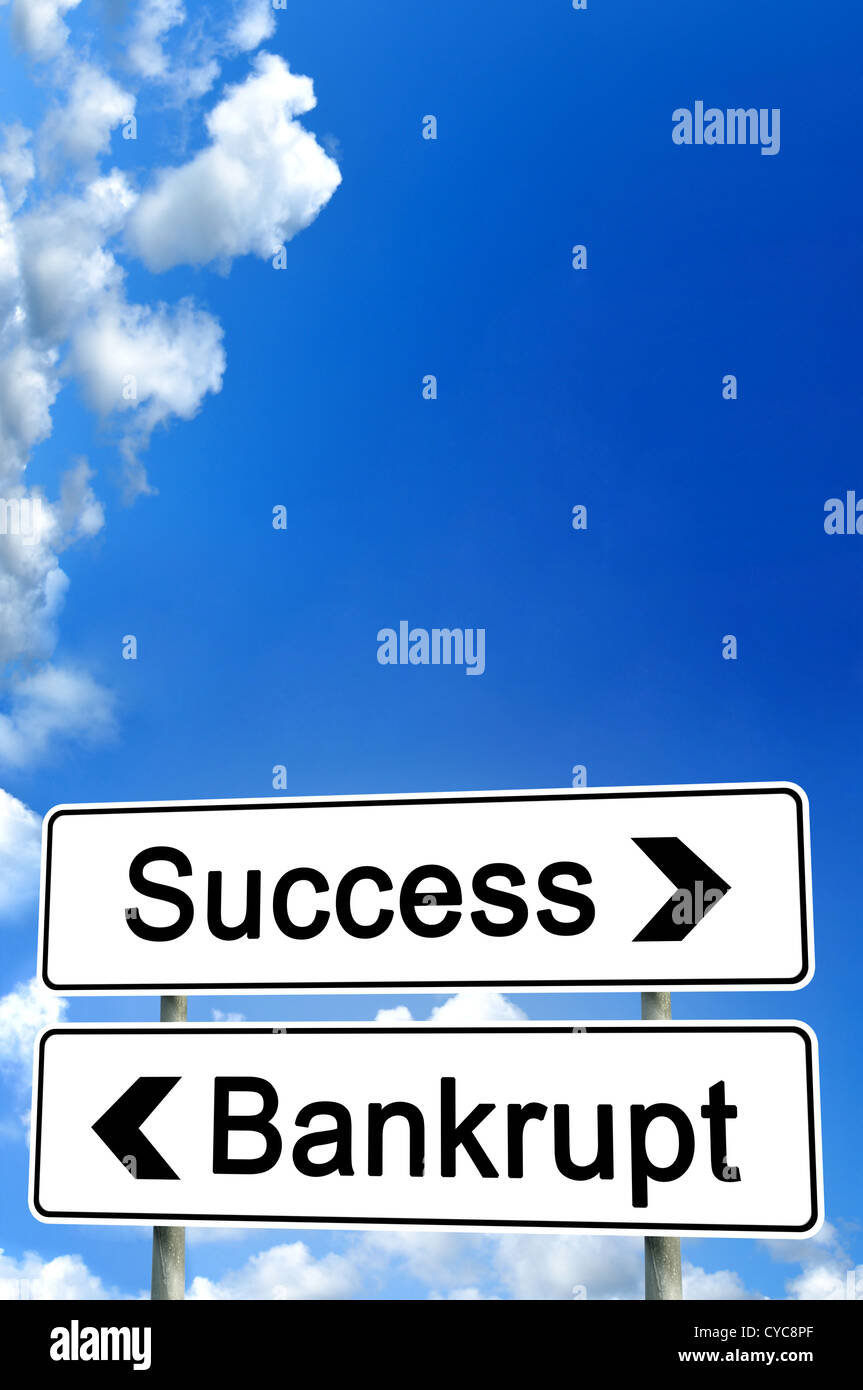 success or bankrupt - Stock Image