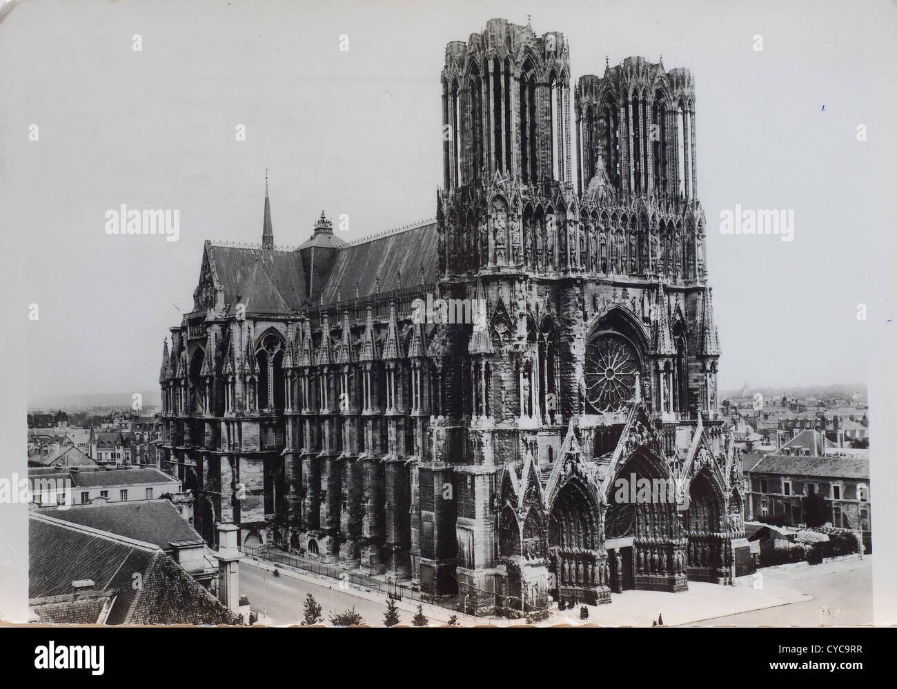 Notre Dame Basilica In Paris In An Old Postcard