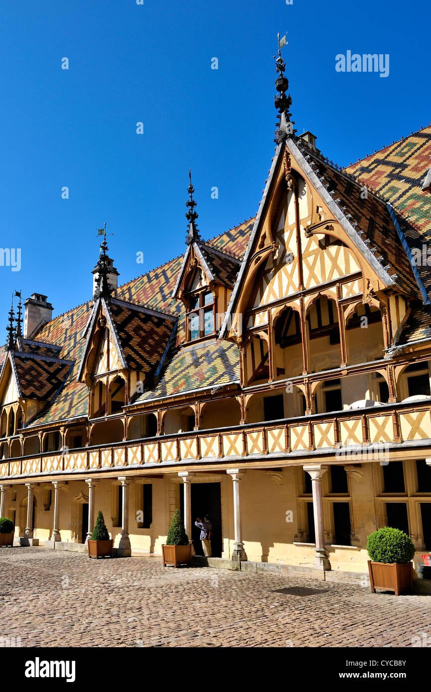 Beaune hospice, Burgundy, France. - Stock Image