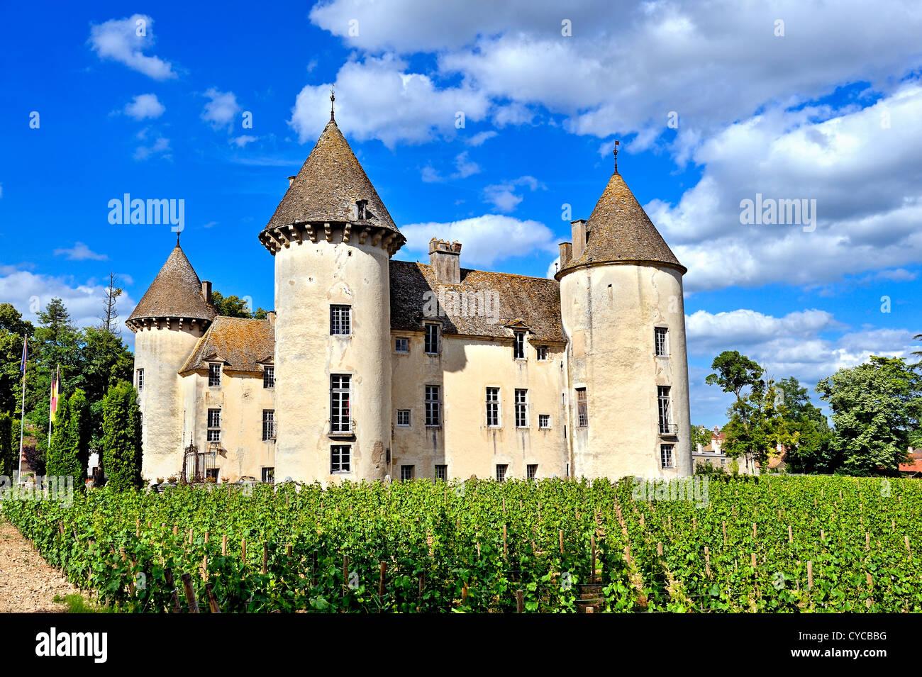 Savigny les Beaune castle, burgundy, France. - Stock Image