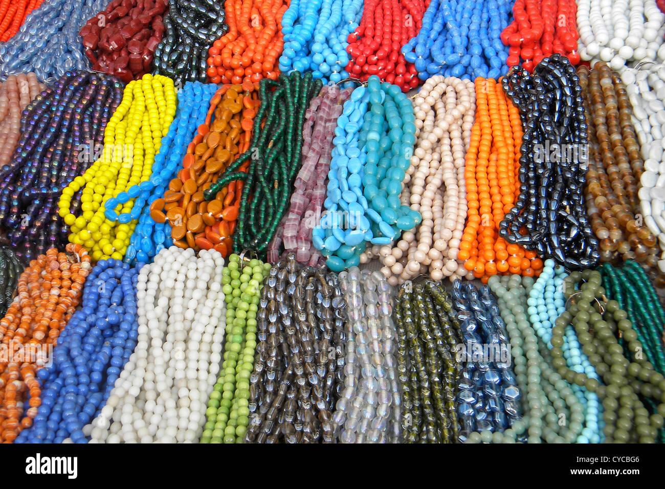 India, Tamil Nadu, Chennai, necklace - Stock Image