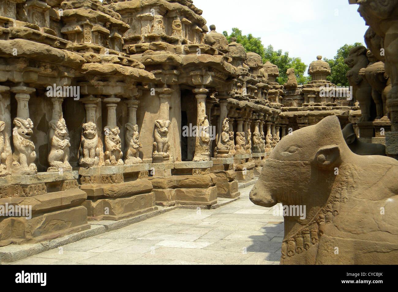 India, Tamil Nadu, Kancheepuram temple - Stock Image