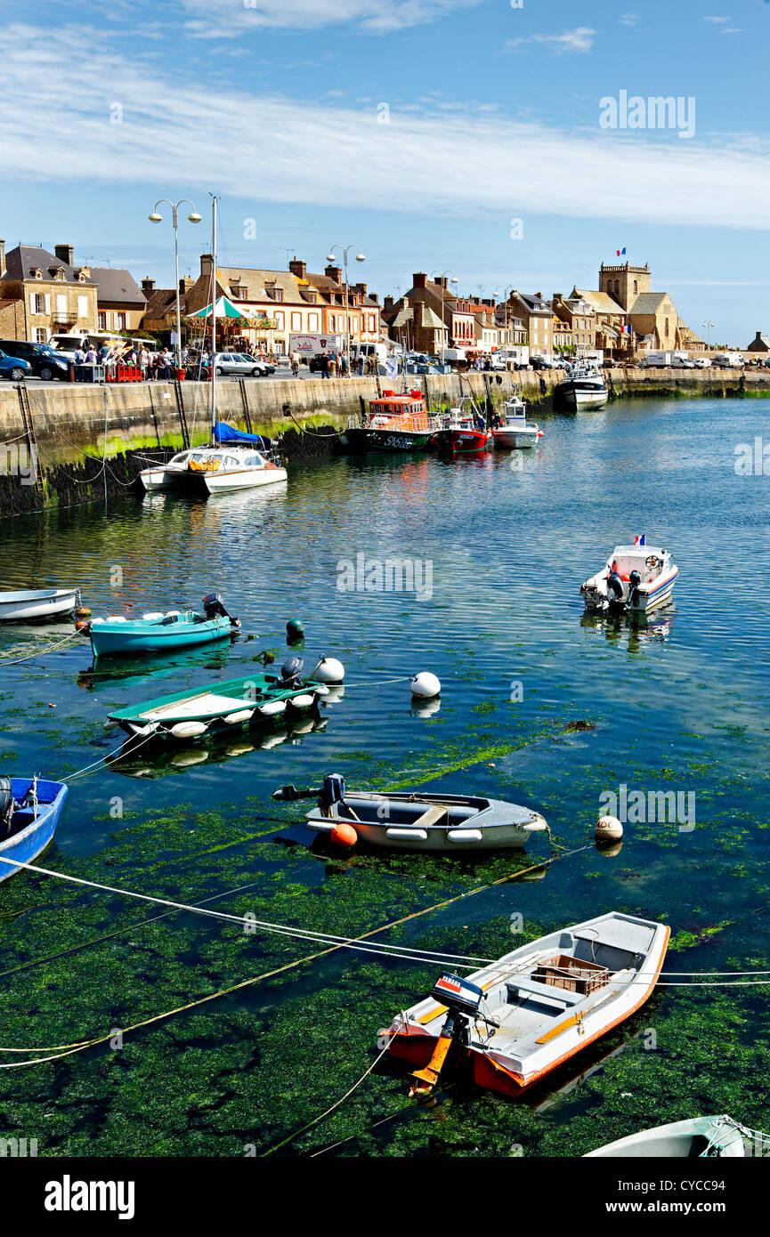 Barfleur harbour, Normandy, France. - Stock Image