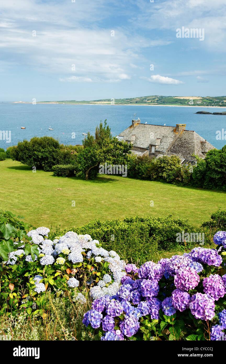 Coastal Landscape near Port Racine, Normandy, France. - Stock Image