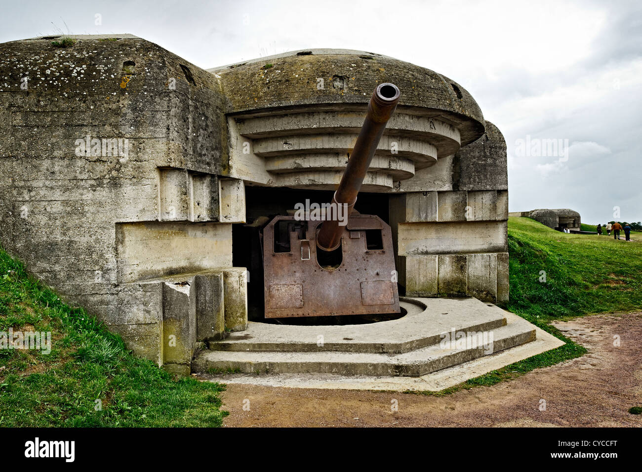 Longues sur Mer battery, Normady, France. - Stock Image