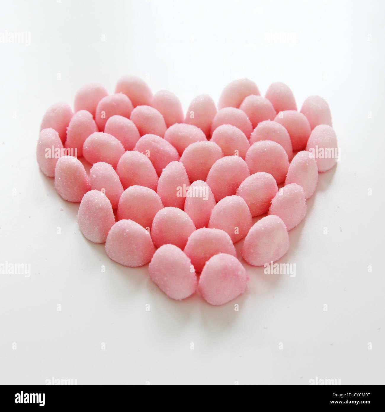 heart,gum drop - Stock Image