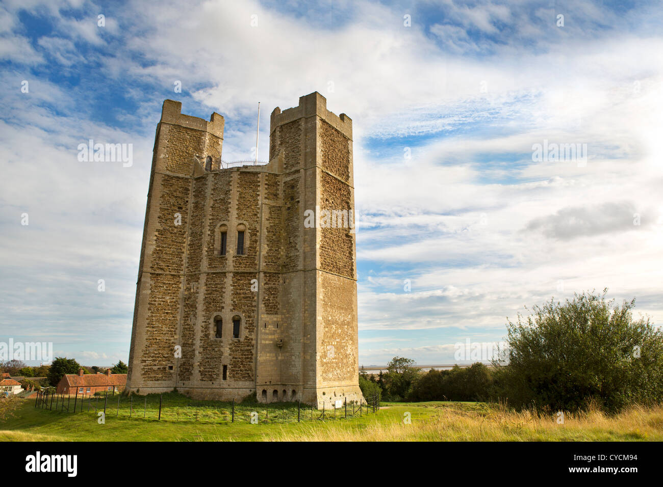 Orford Castle in Suffolk - Stock Image
