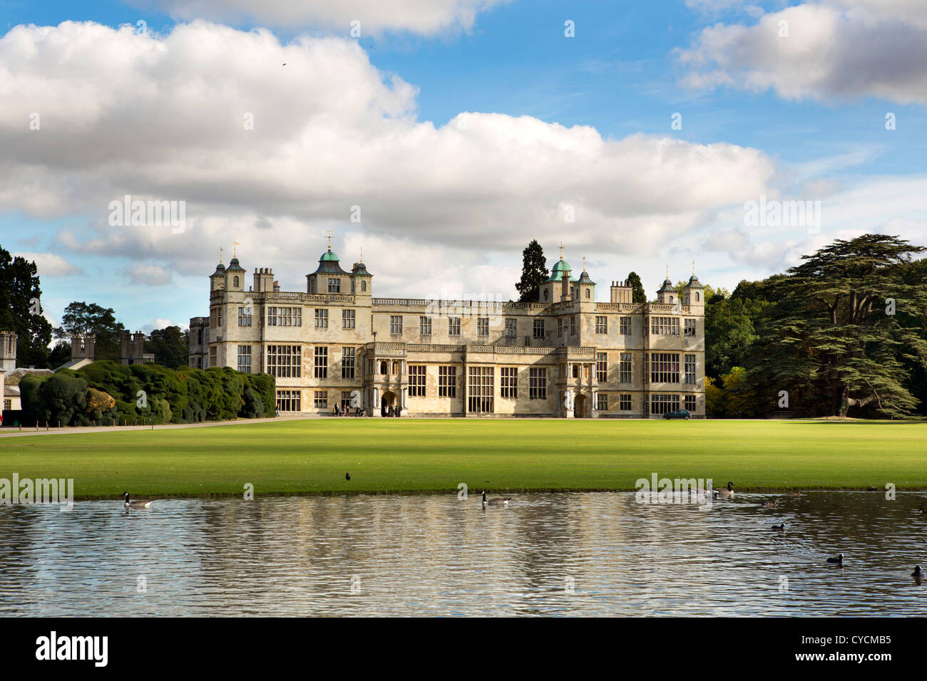 Audley End House and Gardens in Essex, England. - Stock Image