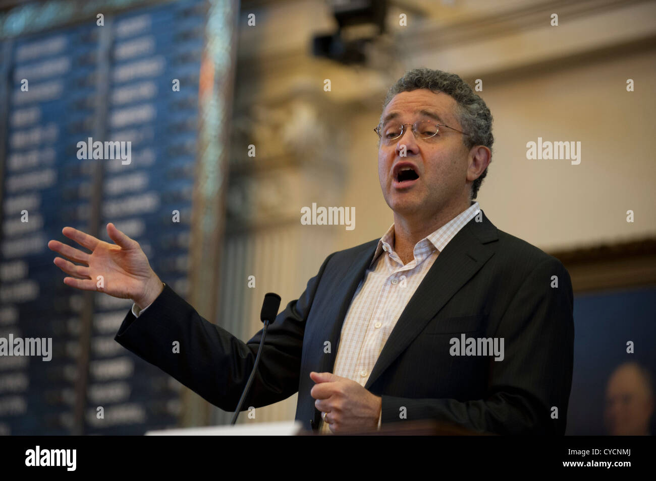 Legal analyst and CNN commentator Jeffrey Toobin speaks at the 2012 Texas Book Festival about his latest book 'The - Stock Image