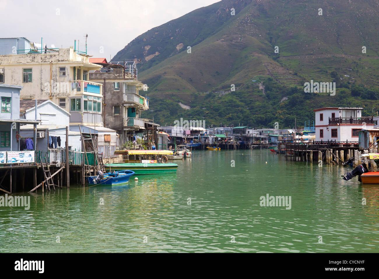 Tai O fishing village. Lantau island, Hong Kong - Stock Image