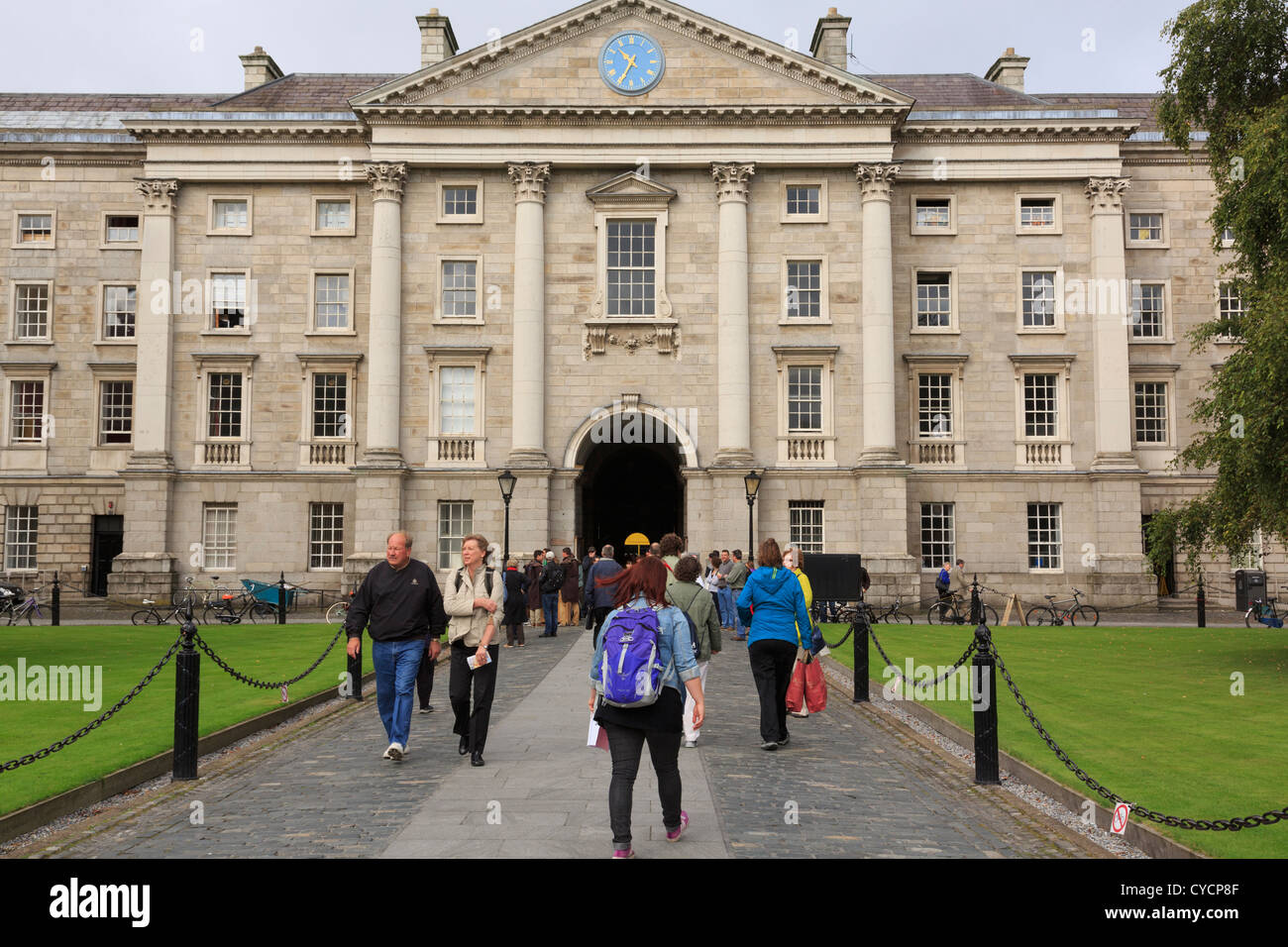 Regent House in Parliament Square on Trinity College University of Dublin campus in College Green Dublin Southern Stock Photo