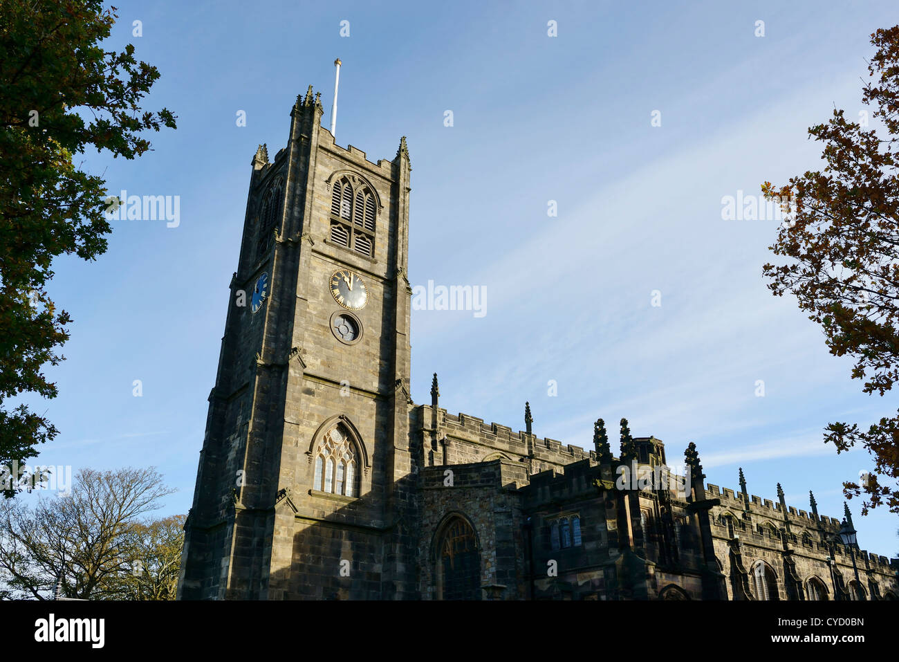 The Priory Church of St Mary Lancaster UK - Stock Image