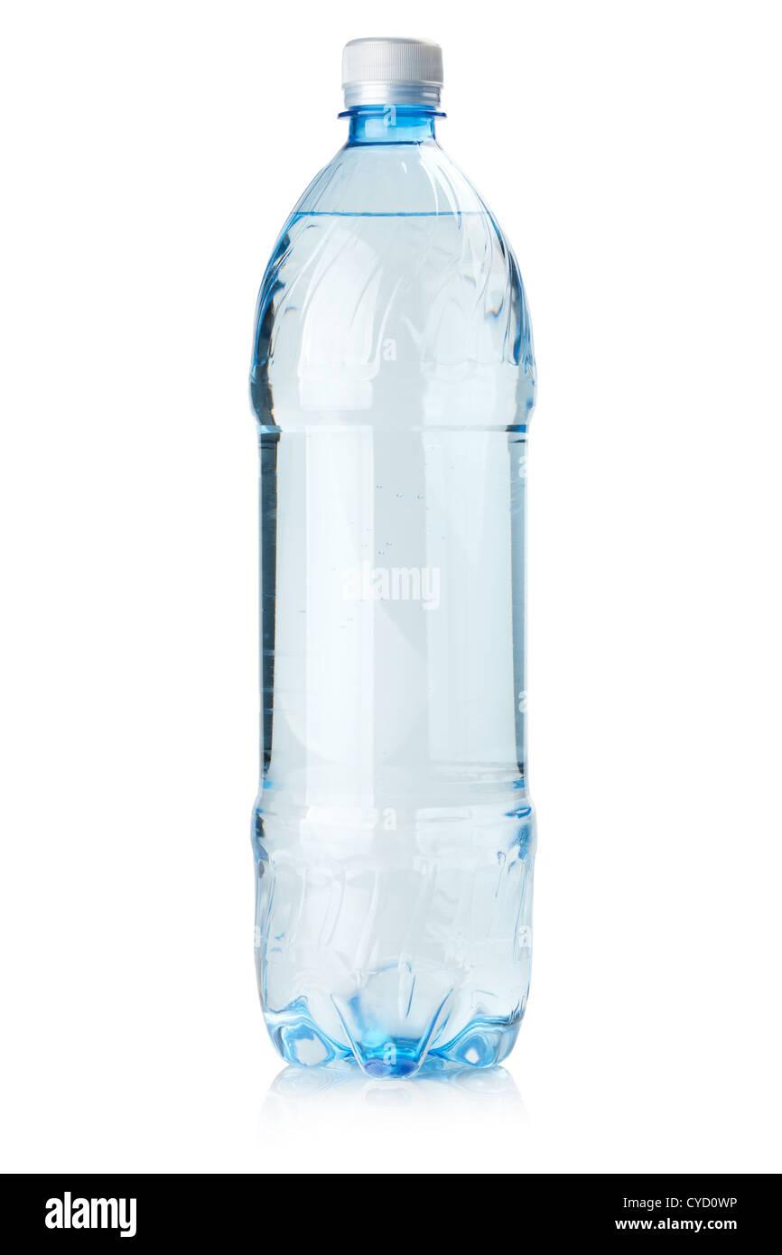 Bottle of soda water. Isolated on white background - Stock Image