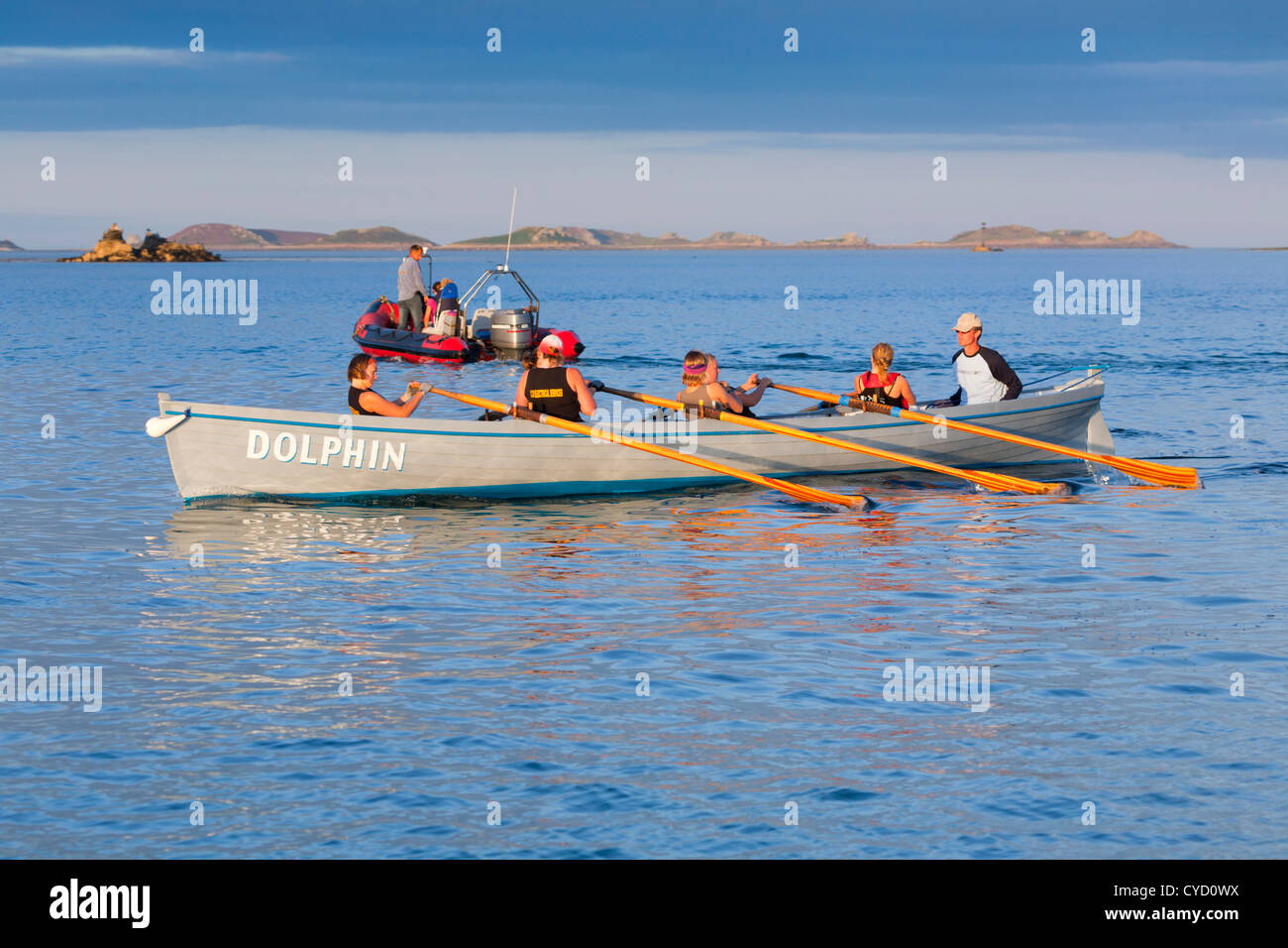 Gig Rowing; Isles of Scilly; UK - Stock Image