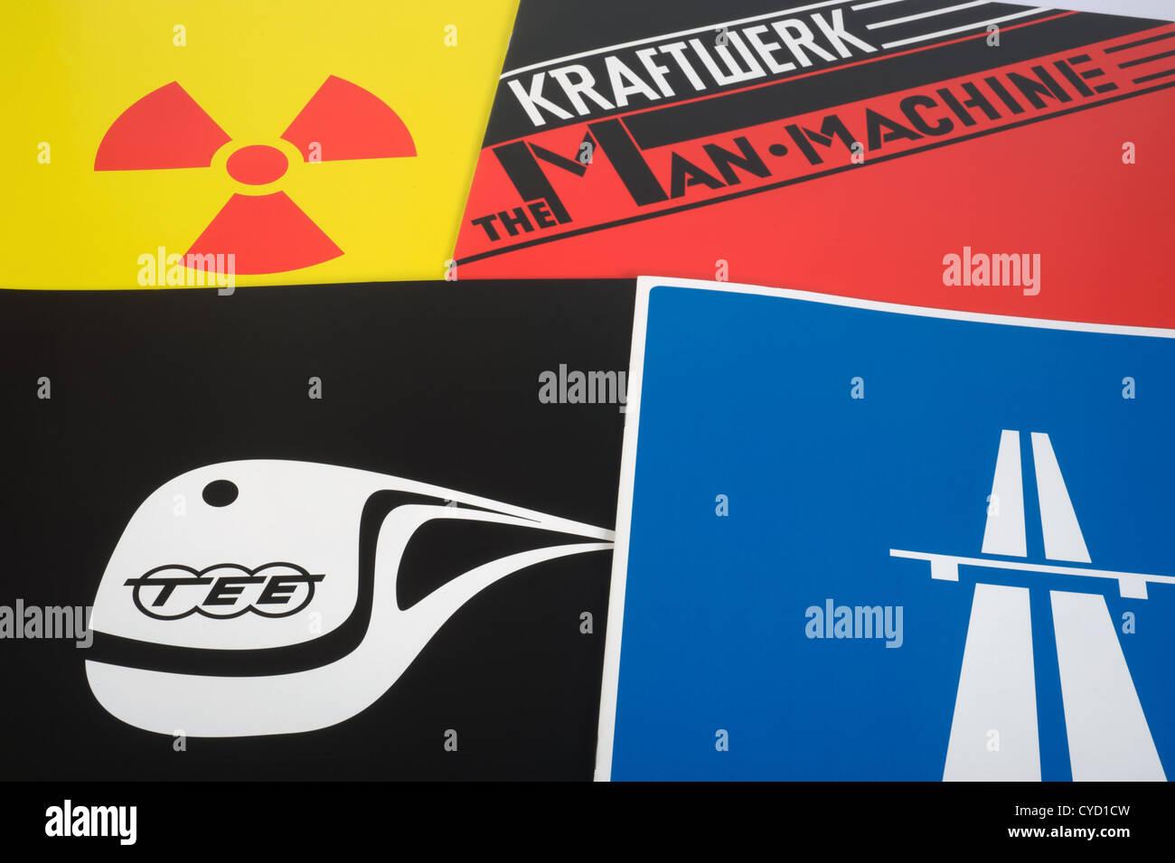 Artwork from Kraftwerk the catalogue box set Stock Photo