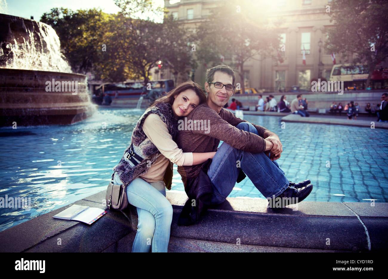 Happy couple enjoying spare time - Stock Image