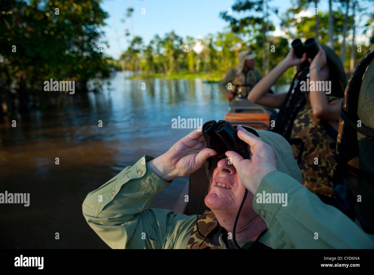 Tourism in the Amazon rainforest in Peru. - Stock Image
