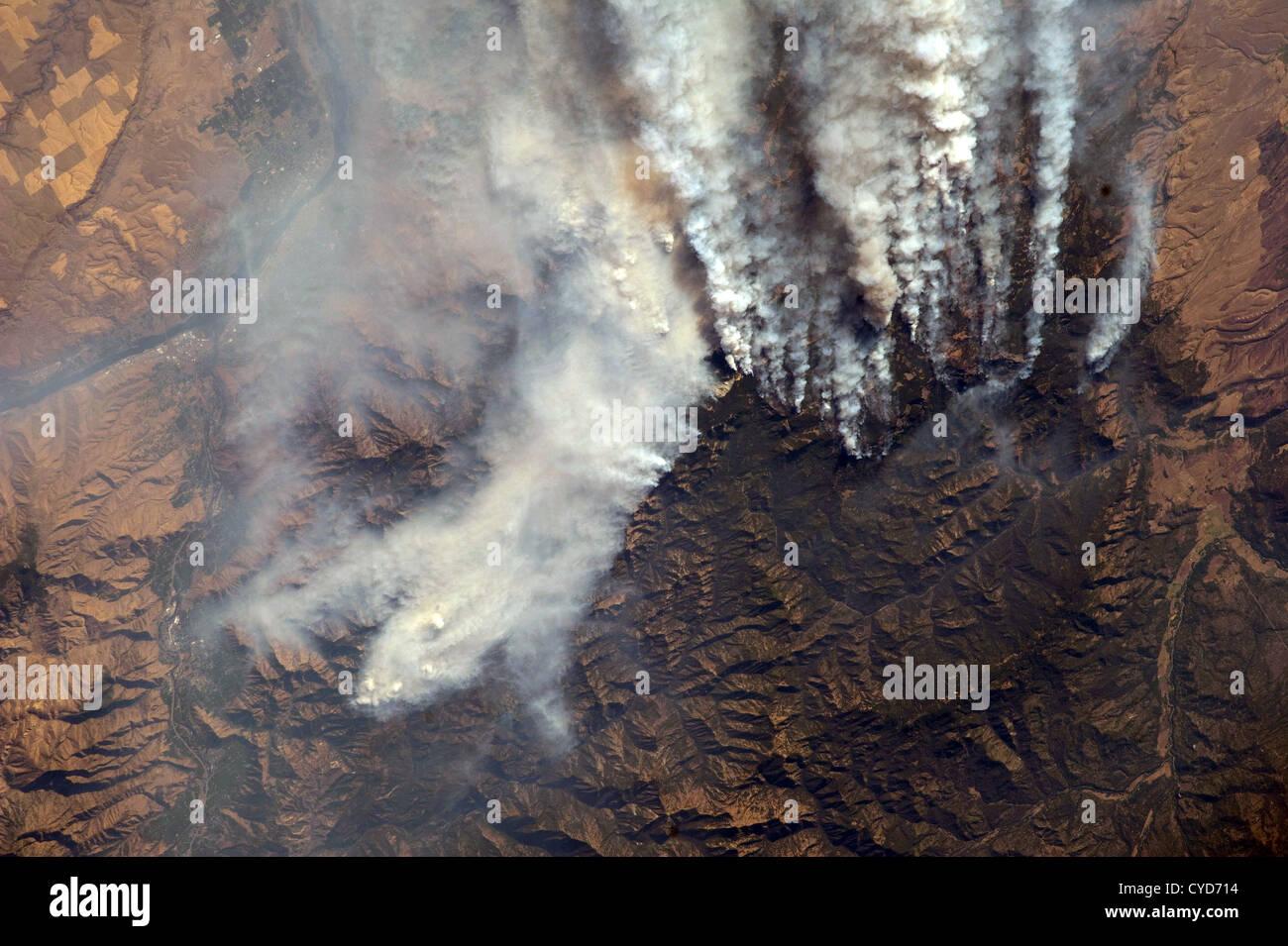 Wildland Fires in Idaho, wildfires, USA - Stock Image