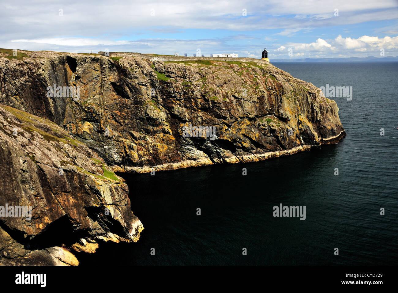 Ushenish Lighthouse, South Uist, Scotland Stock Photo