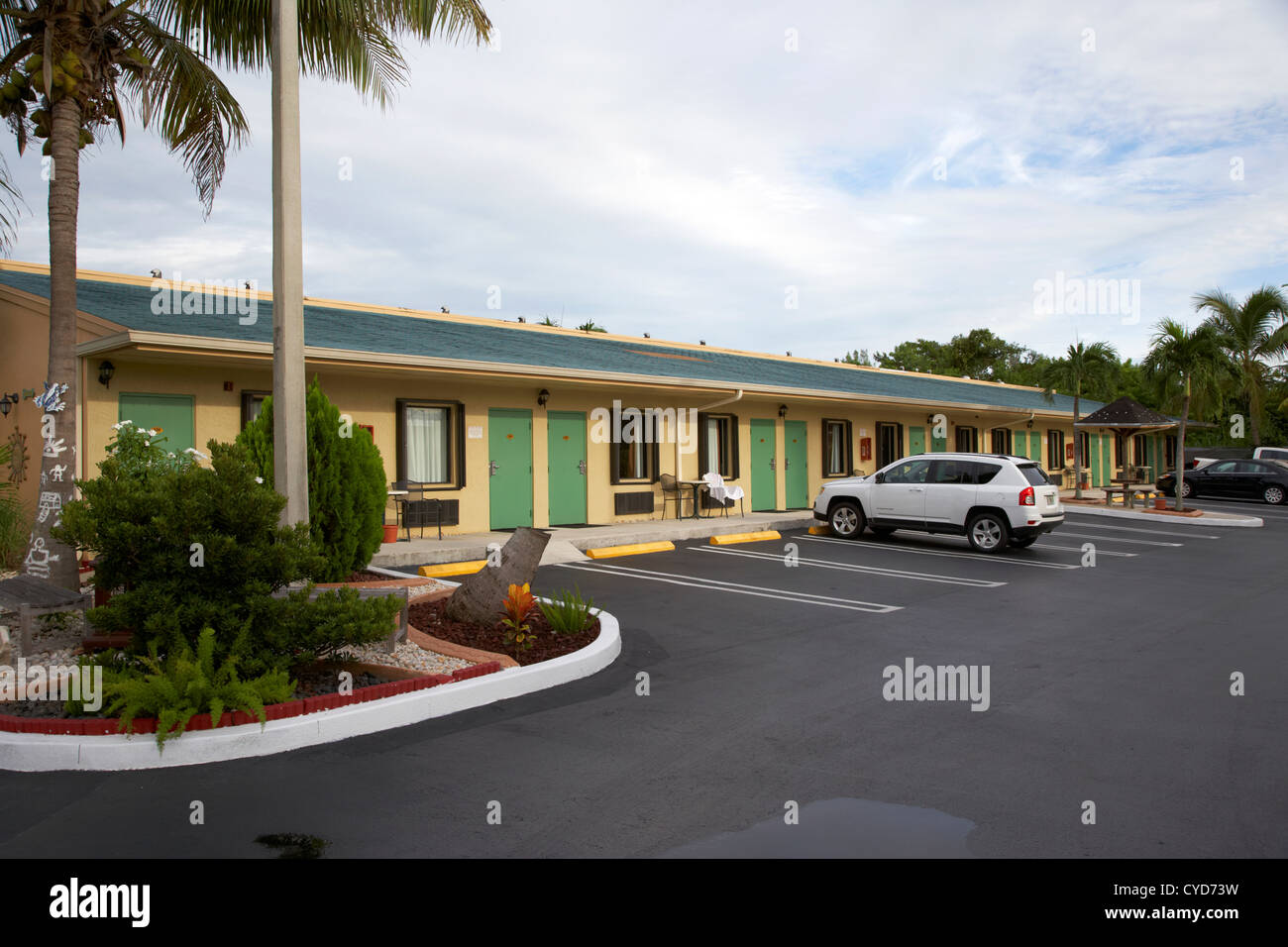 small clean us highway motel florida city usa - Stock Image
