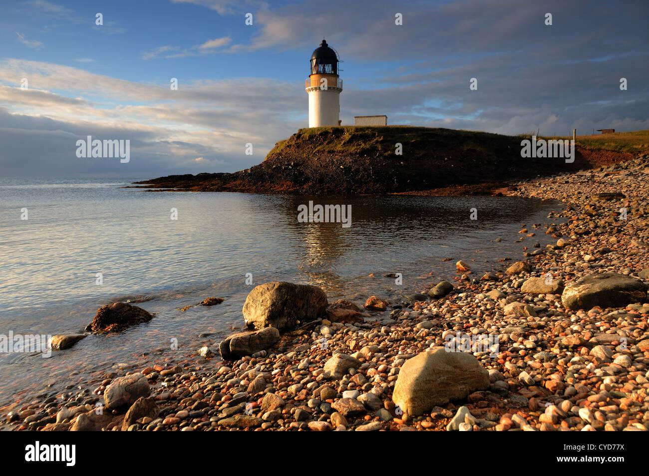 Arnish Point Lighthouse, Stornoway, Isle of Lewis - Stock Image