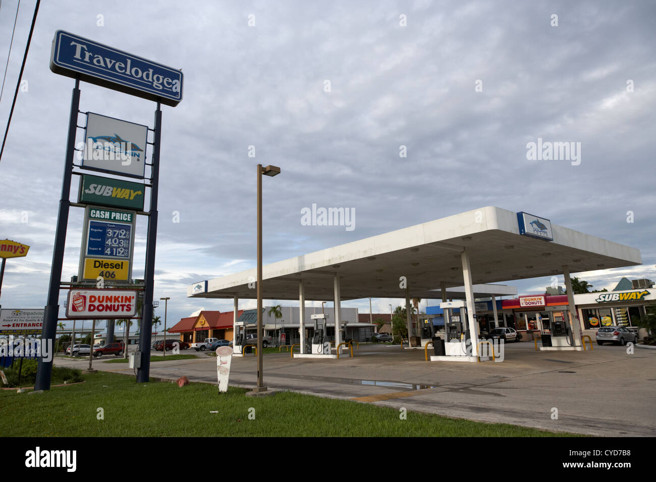 independent dolphin fuel gas station homestead usa - Stock Image