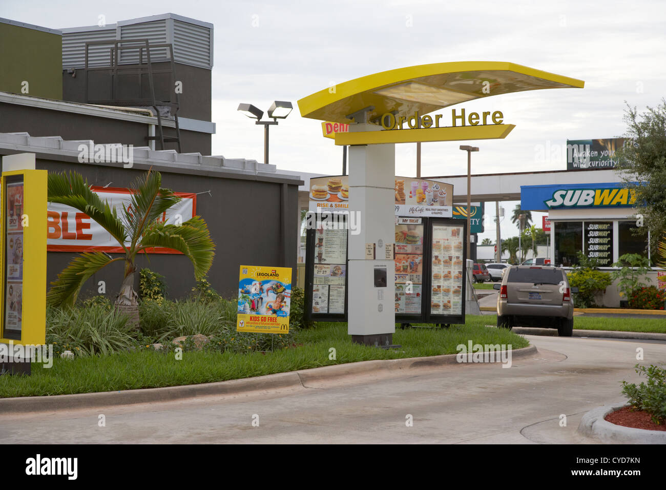 Mcdonalds Fast Food Drive Through Florida City Usa Stock Photo