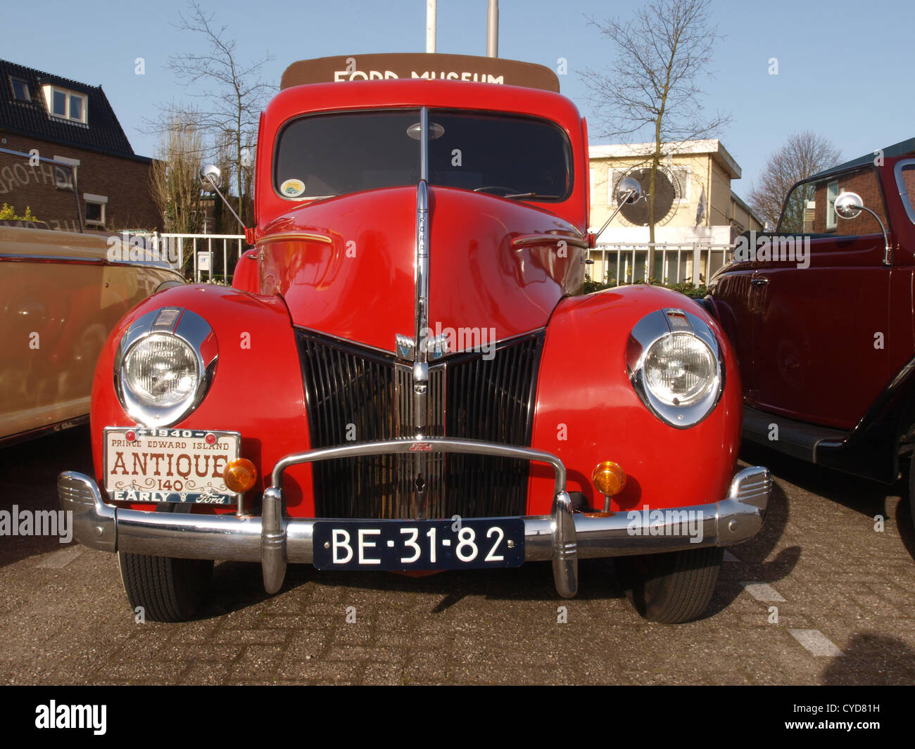 Classic 8 cylinder petrol engined Ford Pickup - Stock Image