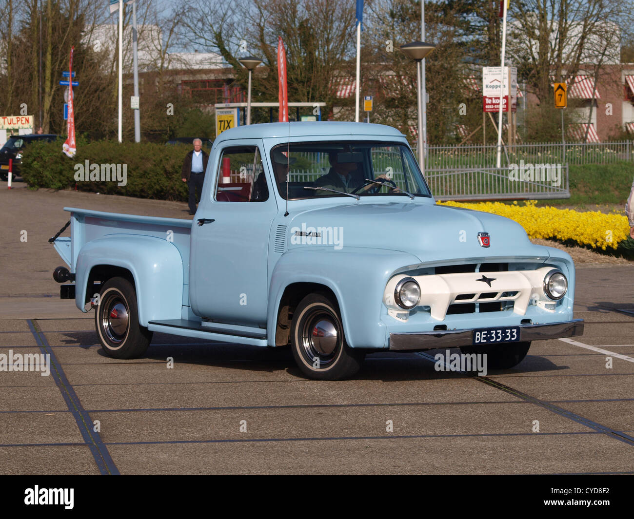 1955 Ford Truck Stock Photos Images Alamy F100 Side Mirrors Image