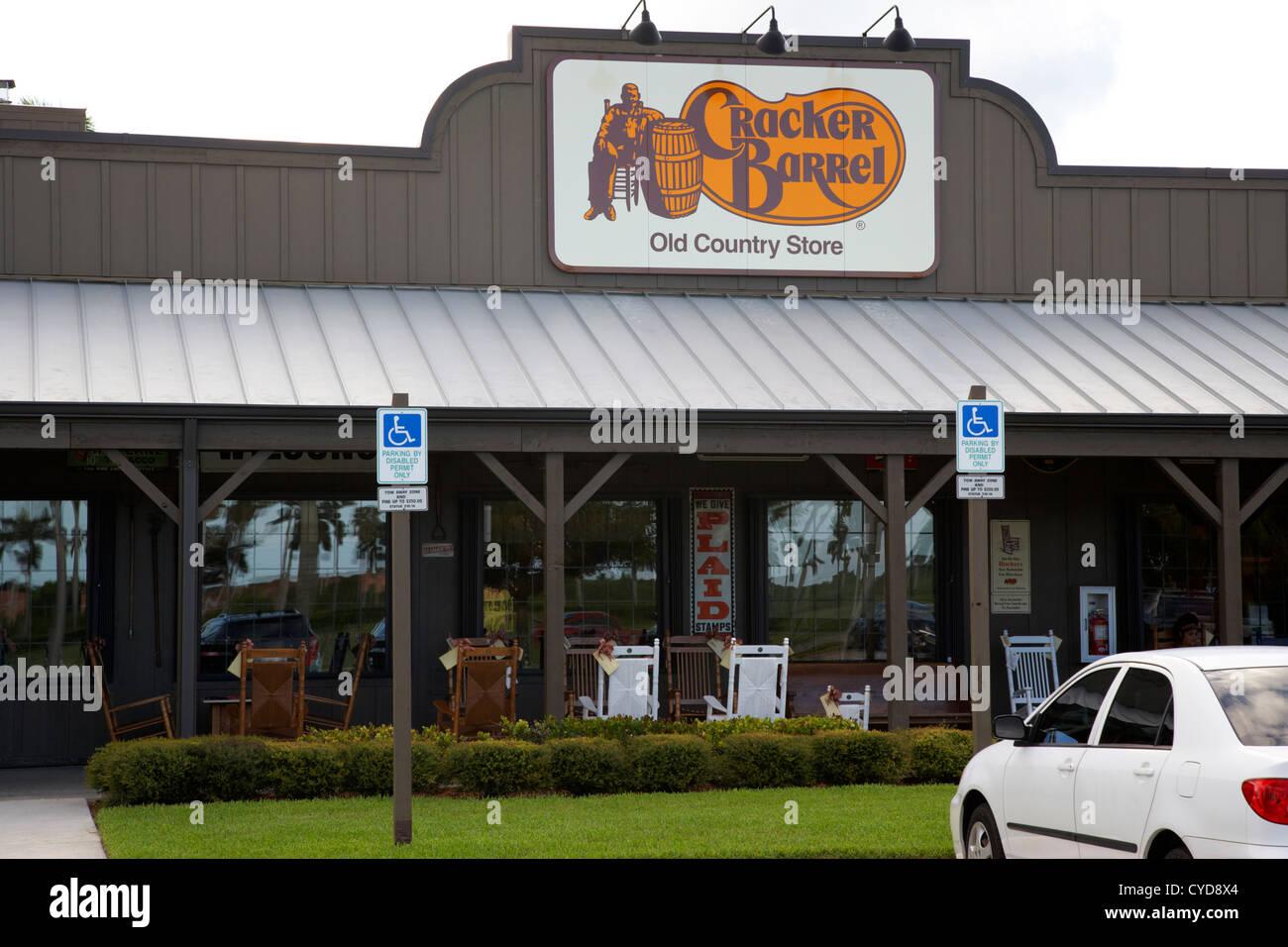 cracker barrel old country store restaurant homestead florida city usa - Stock Image