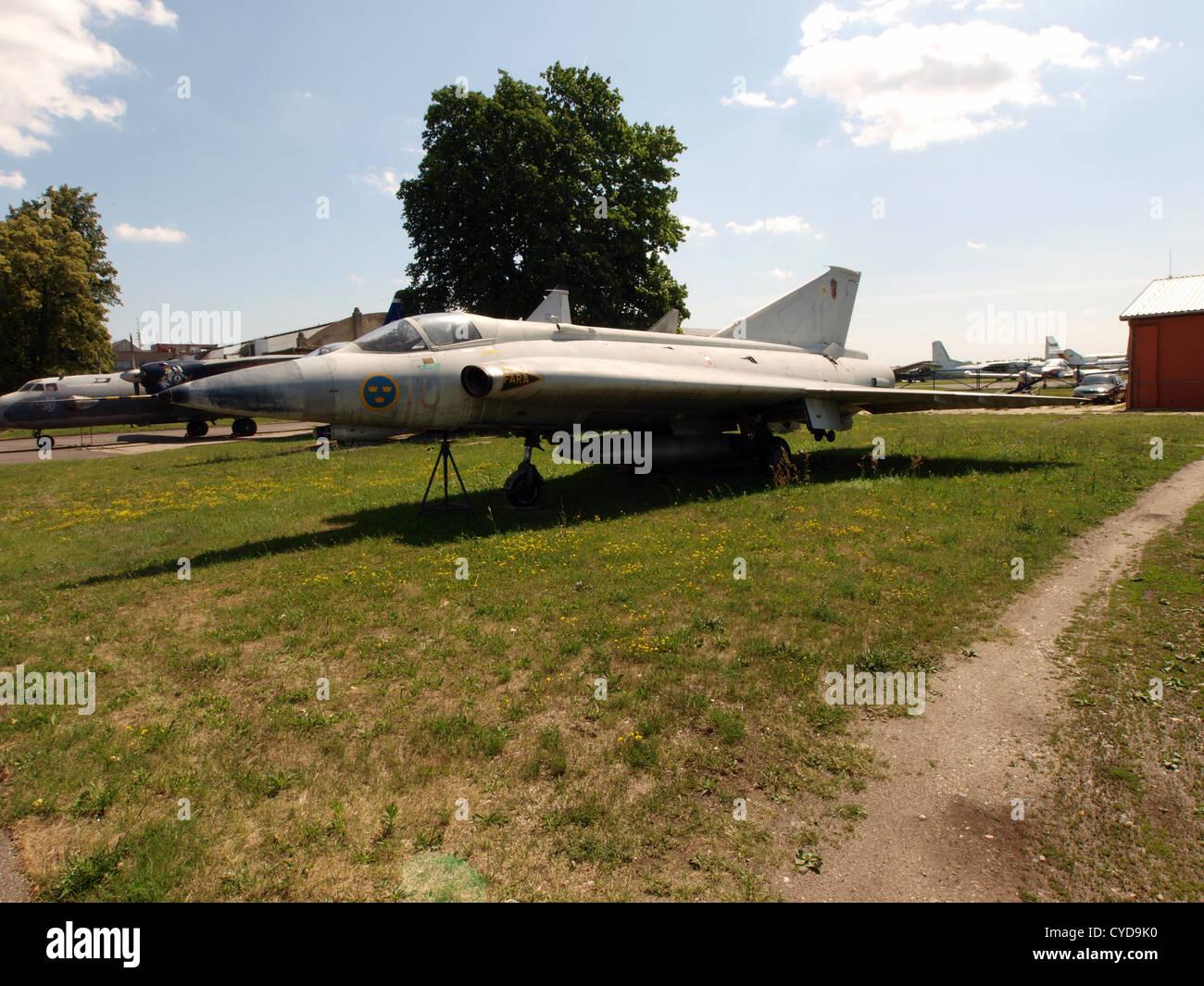 Saab Draken - Stock Image