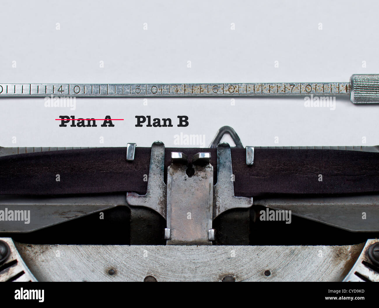 Plan A versus Plan B :: business or sports sport sporting strategy concept conceptual - Stock Image