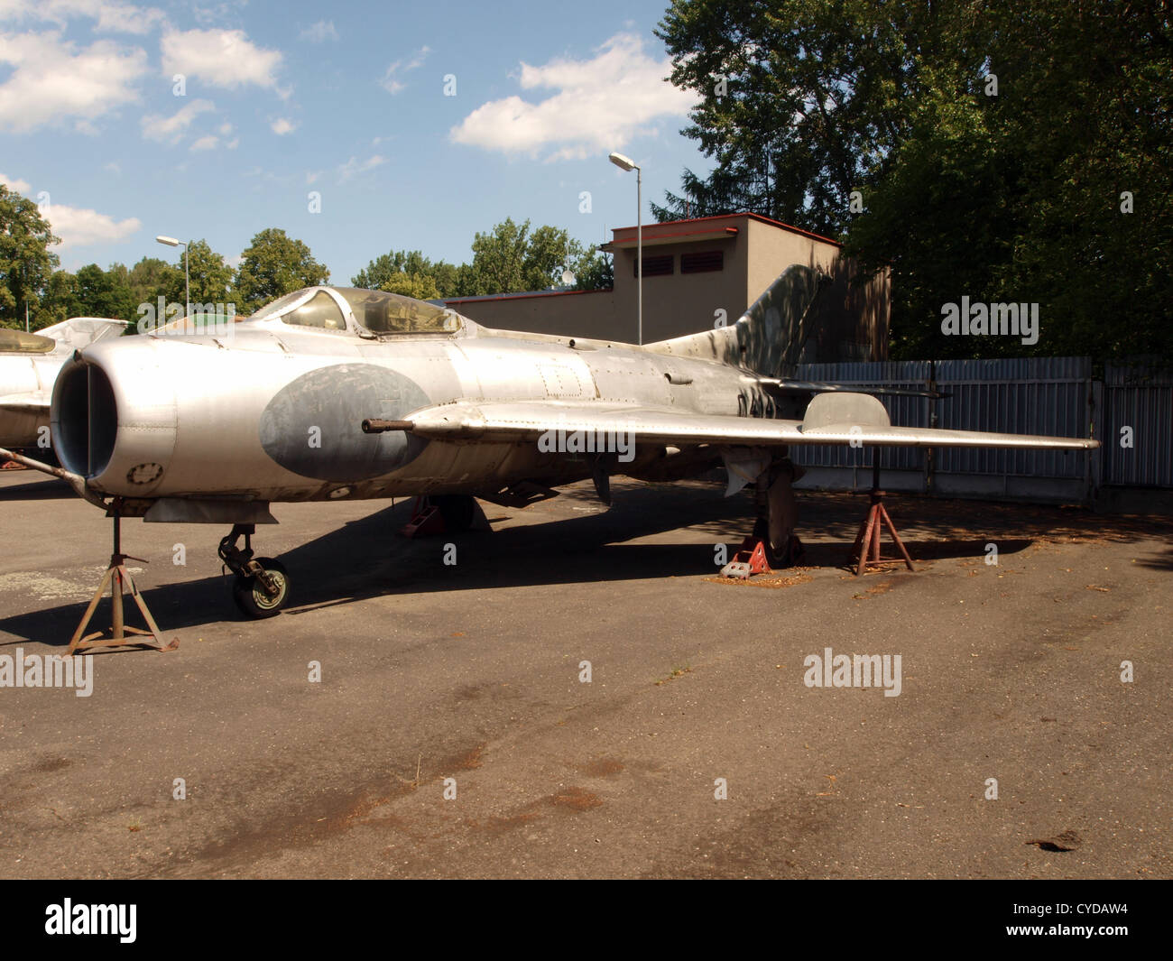 MiG 19S Farmer C, Czech air force 0414 serie 150414 - Stock Image