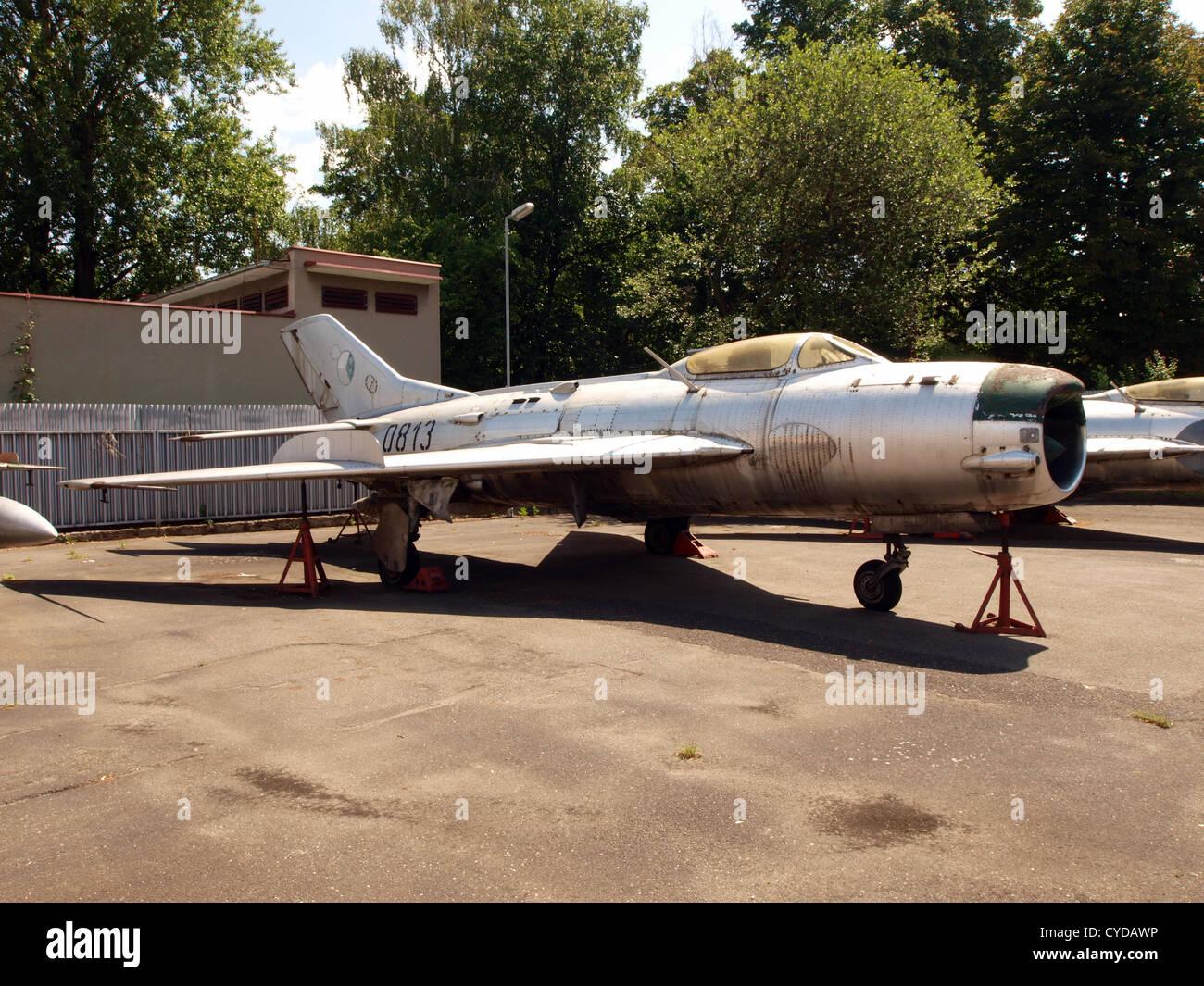 MiG 19P Farmer B, Czech air force 0813 serie 620813 - Stock Image
