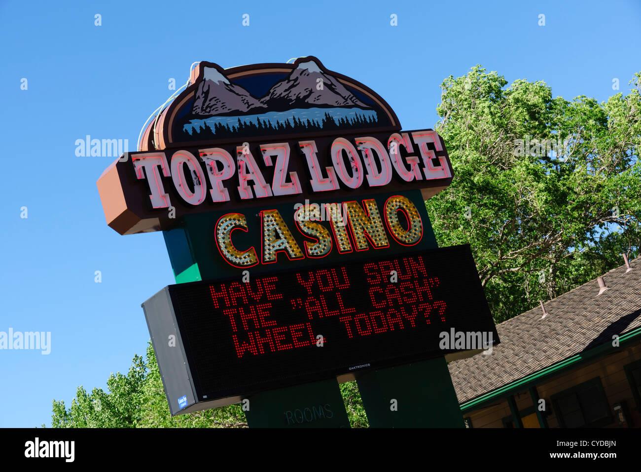 Indian casino in California - Topaz Lodge, gambling near Topaz Lake. - Stock Image