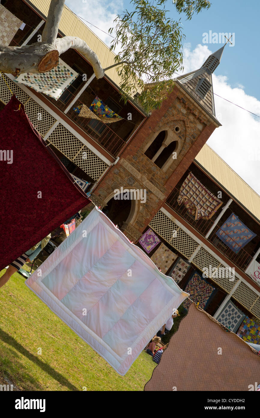 Airing of the quilts in Northampton, Western Australia - Stock Image