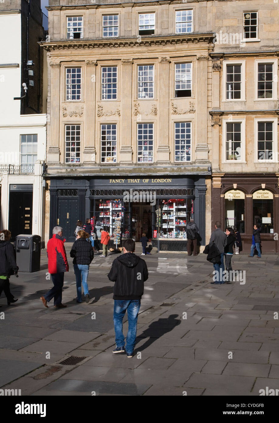 'Fancy That of London' shop in Abbey Square, Bath, Somerset, England - Stock Image